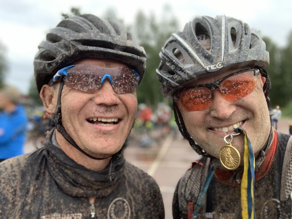 Pekka och Björn på Cykelvasan 2019