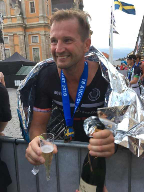 Tarmo i mål på IronMan 2018 Kalmar 20180818